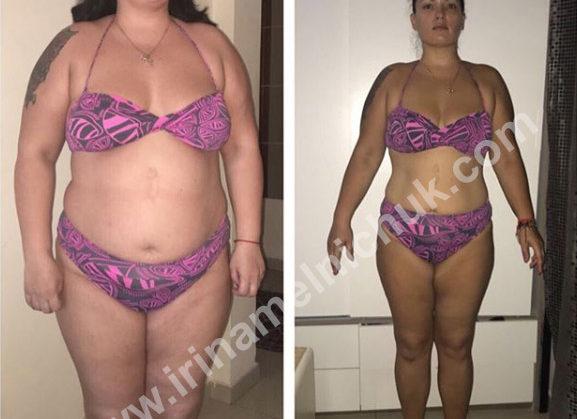 Результат школы Ирины Мельничук. Надежда -17 кг. Спереди